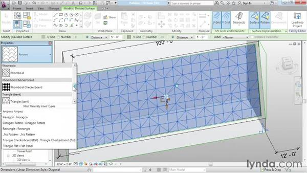 Adding patterns: Advanced Modeling in Revit Architecture