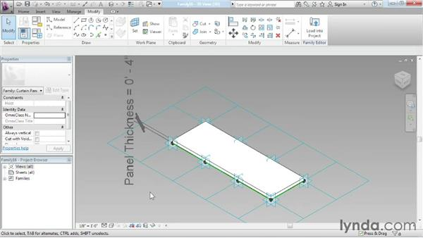 Creating a custom panel family: Advanced Modeling in Revit Architecture