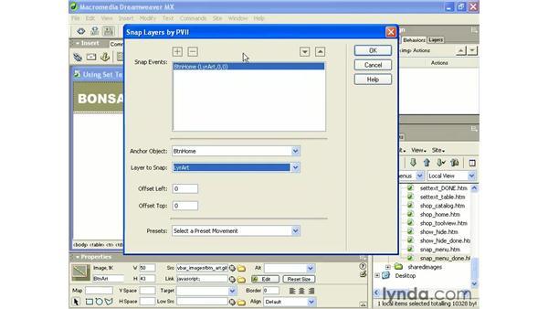 building a PVII snap menu: Intermediate Dreamweaver MX