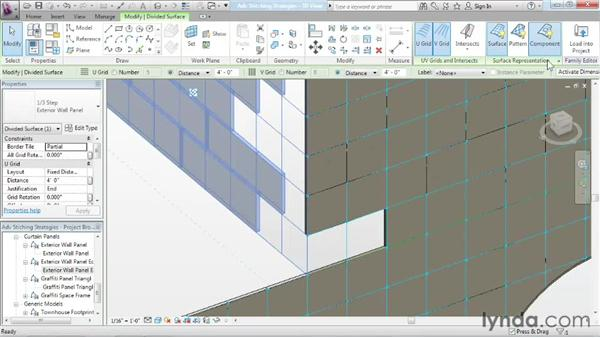 Exploring advanced stitching strategies: Advanced Modeling in Revit Architecture