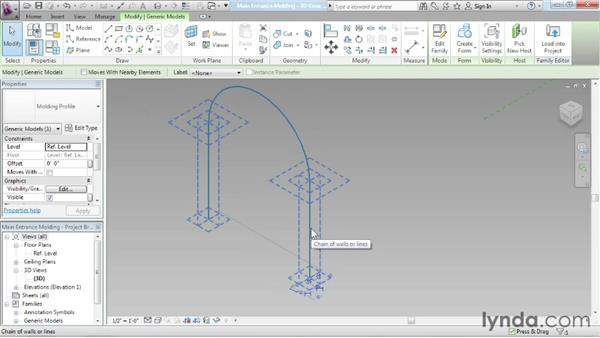Nesting adaptive families: Advanced Modeling in Revit Architecture