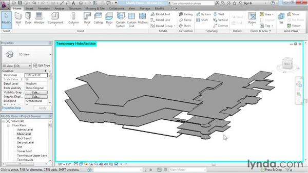Editing floors: Advanced Modeling in Revit Architecture