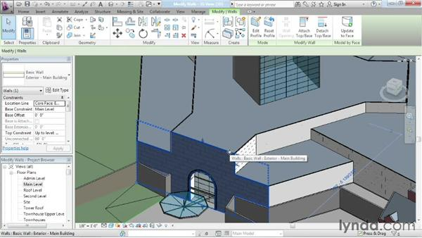 Refining face-based walls: Advanced Modeling in Revit Architecture