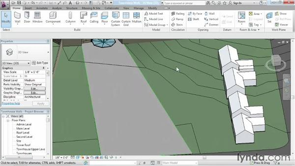 Building walls from floor edges: Advanced Modeling in Revit Architecture
