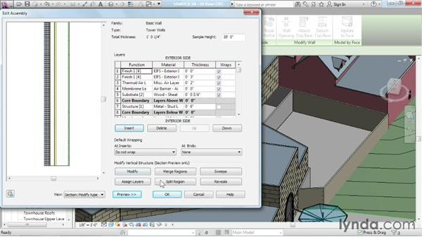 Creating vertically compound walls: Advanced Modeling in Revit Architecture