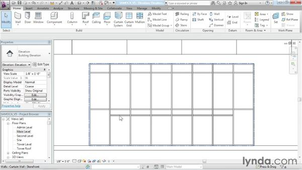 Designing With Curtain Wall Types Advanced Modeling In Revit Architecture