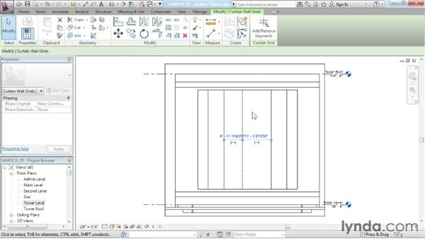 Creating custom curtain walls: Advanced Modeling in Revit Architecture