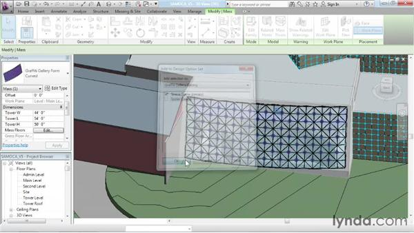 Working with curtain panels: Advanced Modeling in Revit Architecture