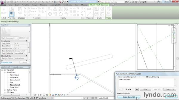 Building sloped glazing: Advanced Modeling in Revit Architecture