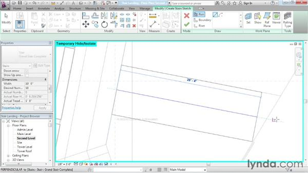 Finishing a custom stair: Advanced Modeling in Revit Architecture