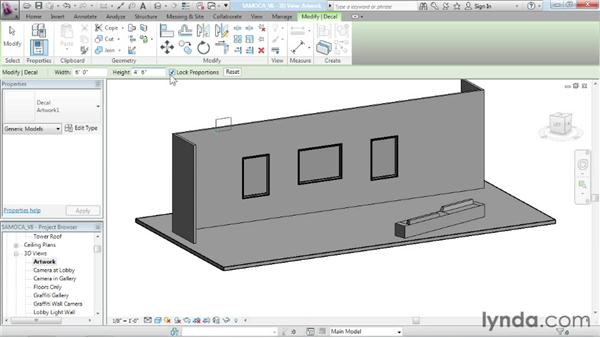 Applying decals: Advanced Modeling in Revit Architecture