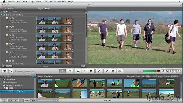 Using the exercise files: Creating a Sports Highlight Reel with iMovie