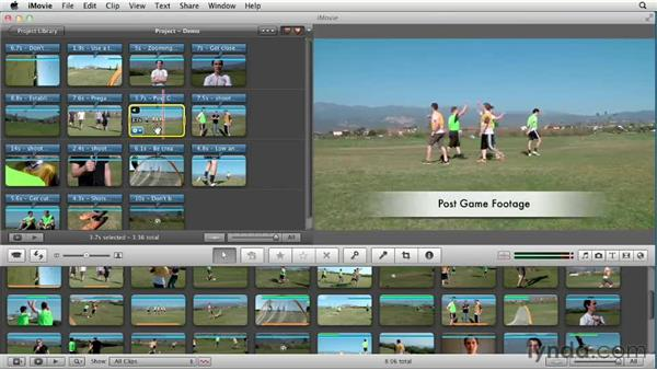 Capturing the moment: things to remember when shooting: Creating a Sports Highlight Reel with iMovie