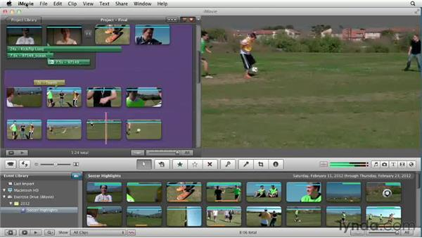 Previewing the project: Creating a Sports Highlight Reel with iMovie