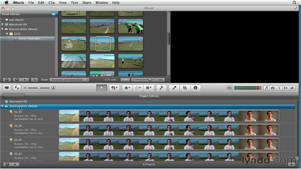 Exploring important settings and editing basics: Creating a Sports Highlight Reel with iMovie