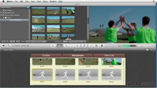Creating a trailer for a sports movie: Creating a Sports Highlight Reel with iMovie