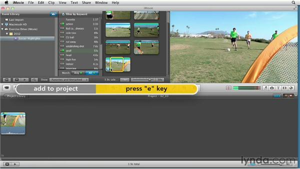 Exploring editing strategies: Creating a Sports Highlight Reel with iMovie
