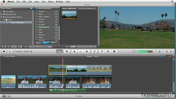 Mixing interviews and natural sound: Creating a Sports Highlight Reel with iMovie