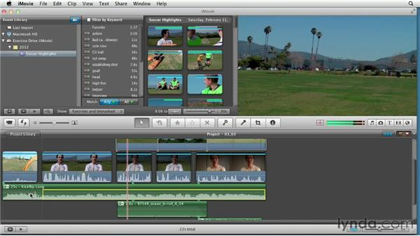 Adding and mixing music: Creating a Sports Highlight Reel with iMovie