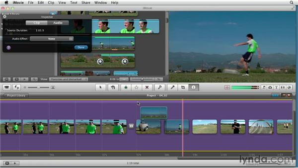 Creating picture-in-picture and split-screen effects: Creating a Sports Highlight Reel with iMovie