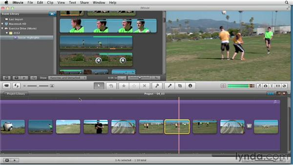 Creating an instant replay and applying speed changes: Creating a Sports Highlight Reel with iMovie