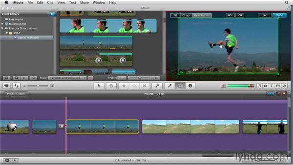 Adding the Flash and Hold Last Frame effect: Creating a Sports Highlight Reel with iMovie