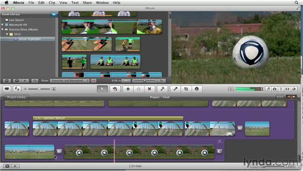 Tweaking the final project: Creating a Sports Highlight Reel with iMovie