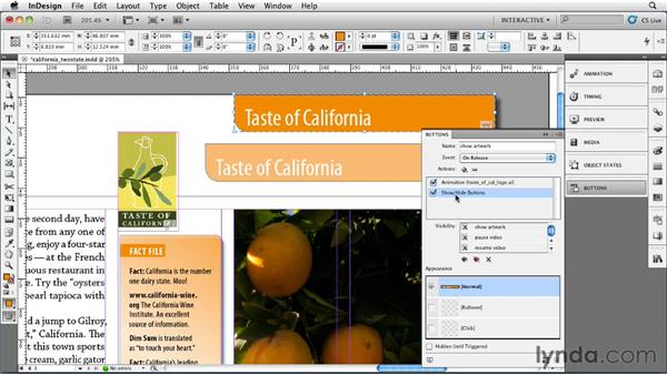 030 Making two-state buttons in interactive documents: InDesign Secrets