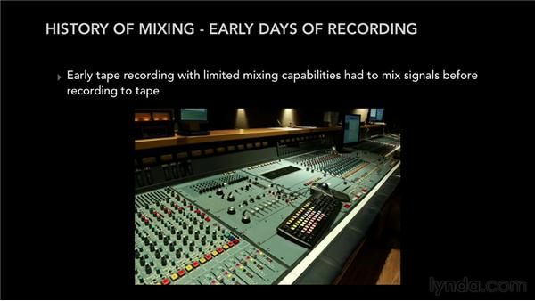 What is mixing? The past, present, and future: Pro Tools Mixing and Mastering