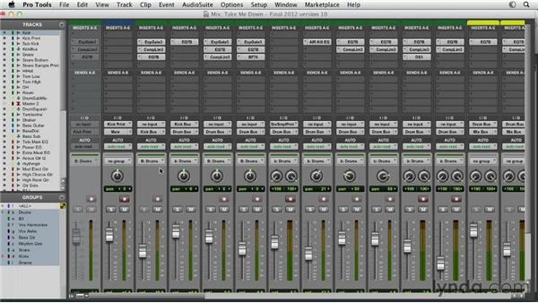 Introducing the Pro Tools mixer: Pro Tools Mixing and Mastering