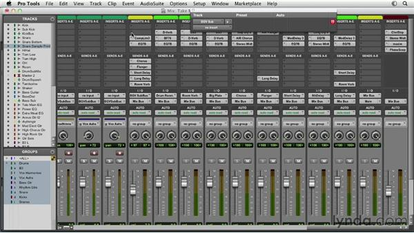 Using inserts and plug-ins: Pro Tools Mixing and Mastering