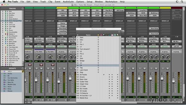 Using master faders effectively: Pro Tools Mixing and Mastering
