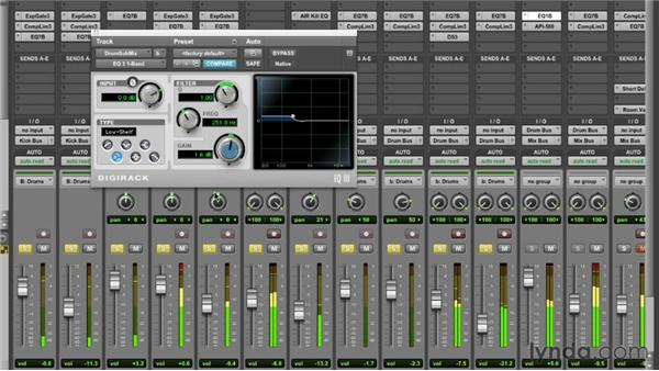 Using DigiRack EQ 3: Pro Tools Mixing and Mastering