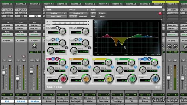 A working example: kick drum and bass: Pro Tools Mixing and Mastering