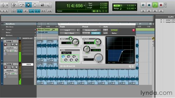 A working example: filtering loops: Pro Tools Mixing and Mastering