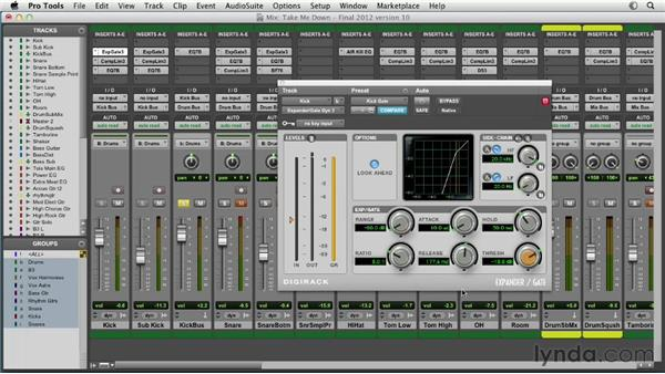Using gates and expanders: Pro Tools Mixing and Mastering