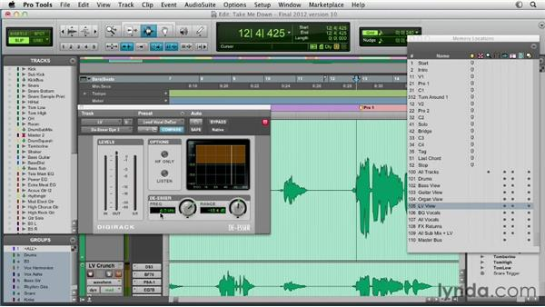 Using de-essers to eliminate sibilance: Pro Tools Mixing and Mastering