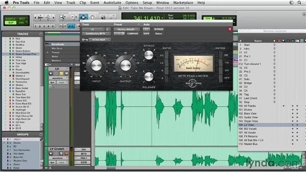 A dynamics workflow example: vocal: Pro Tools Mixing and Mastering