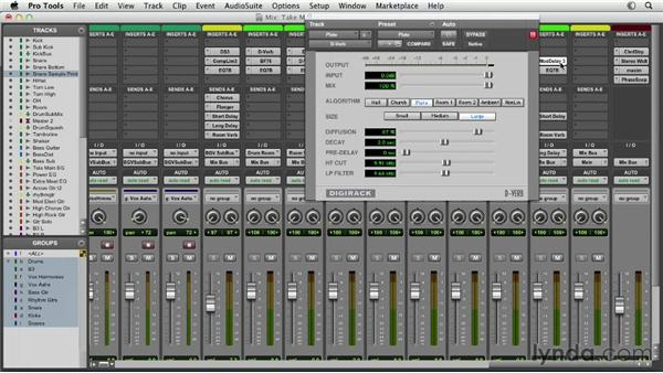 Using time-based effects to add depth and width: Pro Tools Mixing and Mastering