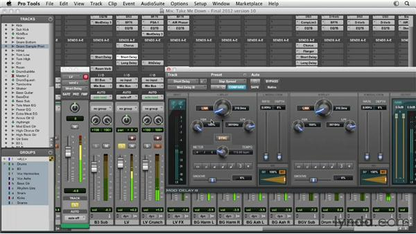 Using the DigiRack delays: Pro Tools Mixing and Mastering