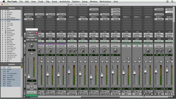 Mixing with delays: Pro Tools Mixing and Mastering