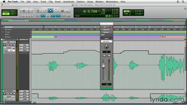 Recording real-time automation moves: Pro Tools Mixing and Mastering