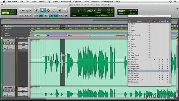 Using clip gain: Pro Tools Mixing and Mastering