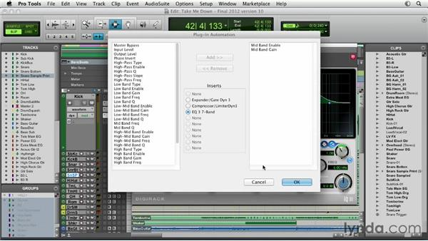 Automating plug-ins: Pro Tools Mixing and Mastering