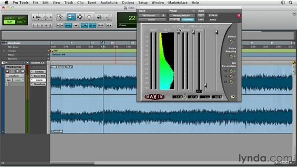 Using limiting and compression to maximize track level: Pro Tools Mixing and Mastering