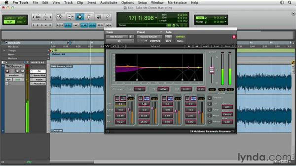 Working with multiband compression: Pro Tools Mixing and Mastering