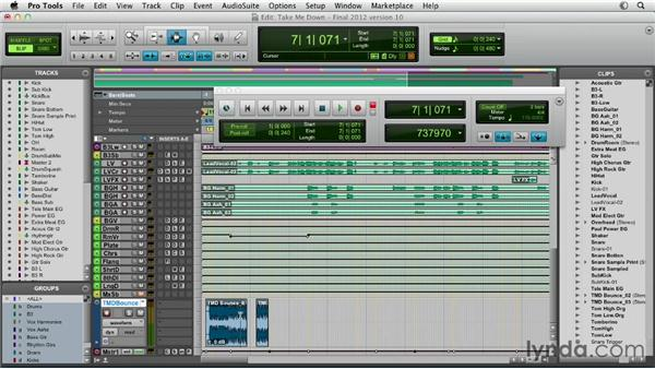 Bouncing the mix: Pro Tools Mixing and Mastering
