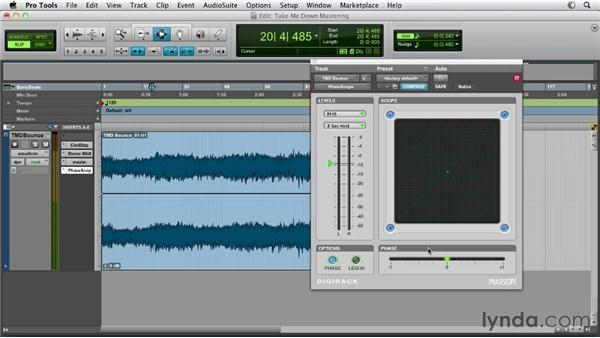 Metering with the DigiRack Phase Scope: Pro Tools Mixing and Mastering