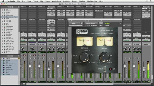 Using saturation and other analog-style effects effectively: Pro Tools Mixing and Mastering