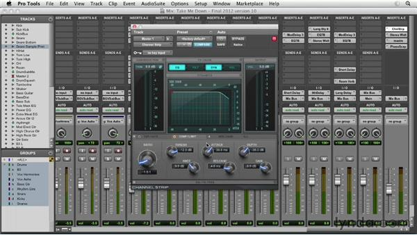Master bus processing: Pro Tools Mixing and Mastering